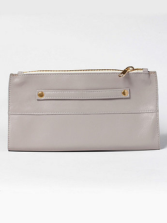 Leather Fold-Over Clutch | American Apparel