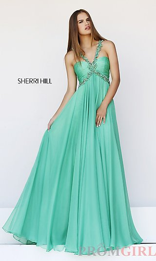 Prom Dresses, Celebrity Dresses, Sexy Evening Gowns - PromGirl: Floor Length Sherri Hill Dress