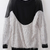 Grey Batwing Sleeve Contrast Mesh Yoke Backless Sweater - Sheinside.com
