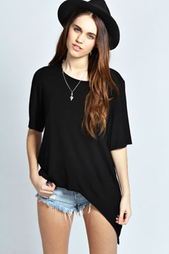 Leanne Oversized Asymmetric Tunic at boohoo.com