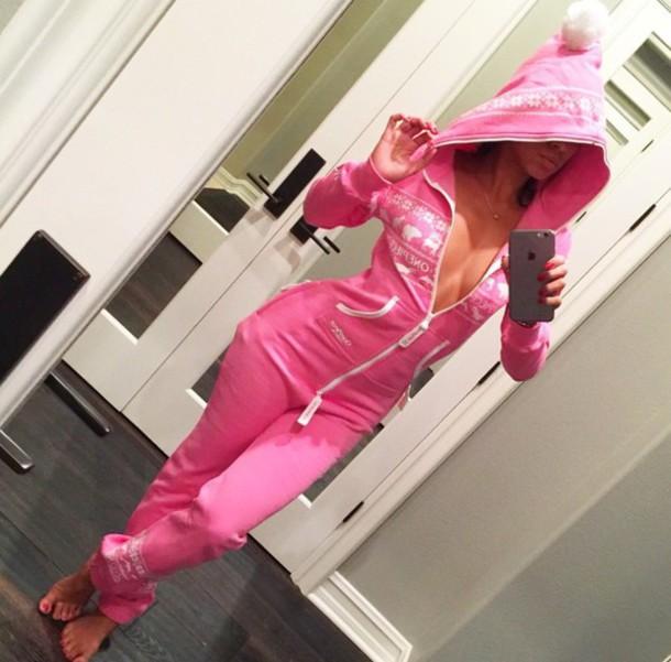 pajamas onesie pink jumpsuit