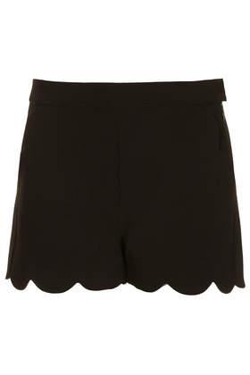 Black Scallop Hem Shorts - Smart Shorts - Shorts  - Clothing - Topshop