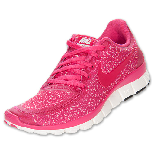 Women's Nike Free 5.0 V4 Running Shoes | Finish Line | Sail/Pink Force/Sail
