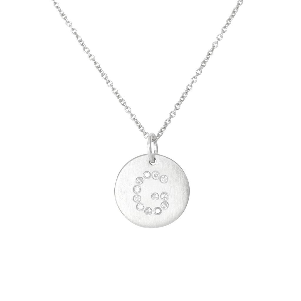 Silver Constellation Diamond Initial G Necklace by La Soula | La Soula Jewelry