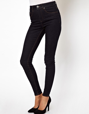 ASOS | ASOS Ridley Supersoft High Waist Ultra Skinny Jeans in Clean Indigo at ASOS