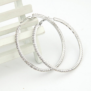 Classic Chic Rhinestone Hoop Earrings
