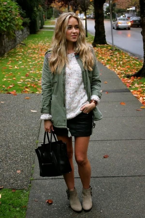 a fashion love affair sweater jacket jewels skirt bag shoes