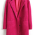 ROMWE | Notched Lapel Buttoned Rose Coat, The Latest Street Fashion
