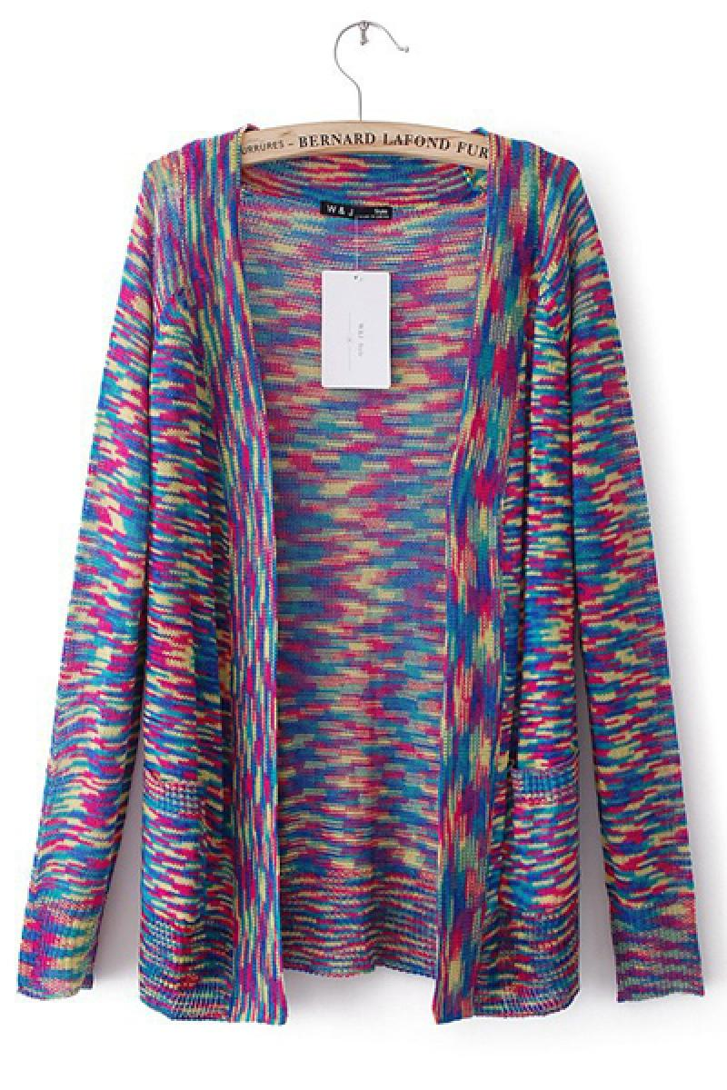 Colorful Fluorescent Space Dye Sweater,Cheap in Wendybox.com