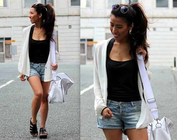 article 21 shirt jacket shorts shoes bag sunglasses
