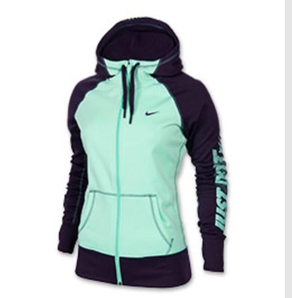 jacket full zip graphic tee aqua
