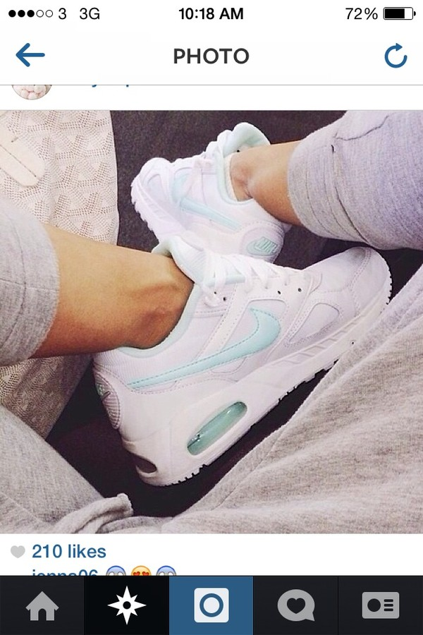 shoes white turquoise nike