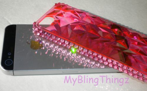For iPhone 5 5S Pink Crystals Bling Hard Case Cover Bumper w Swarovski Elements | eBay