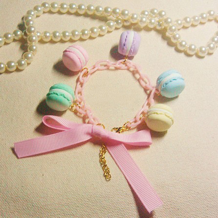 Noirlu | Yum Macarons Bow Chain Bracelet | Online Store Powered by Storenvy