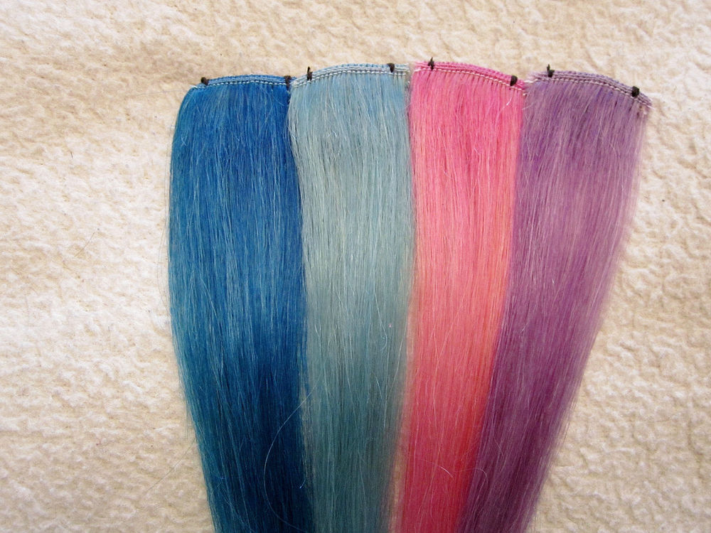 8 inch Long Human Hair Clip in Extensions | eBay