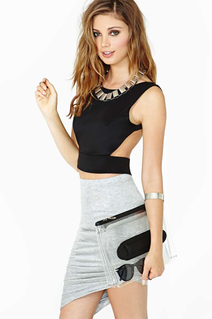 Nasty Gal Back Off Crop Tank in  Clothes Tops Cropped at Nasty Gal