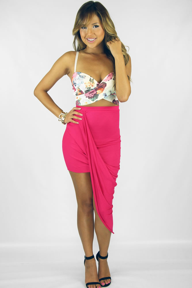 Wrap Me Skirt - Fucshia : Current Fashion Trends & Styles