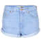 Moto blue high waisted hotpants - hotshop  - clothing  - topshop