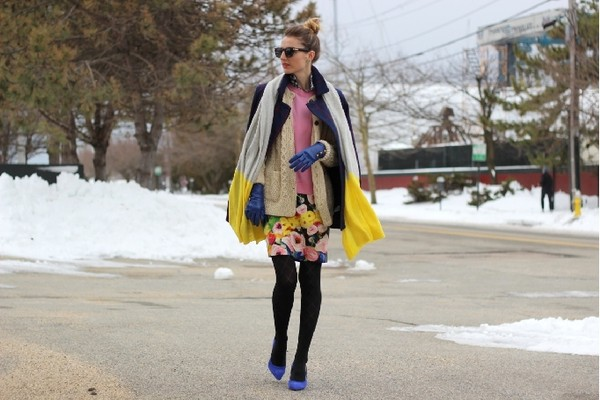 jess style rules scarf dress shoes coat sweater sunglasses jewels