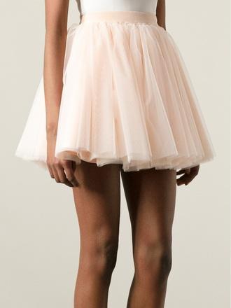 skirt tulle a-line skirt tulle skirt a-line skirt creme moschino