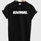 Animal font tshirt