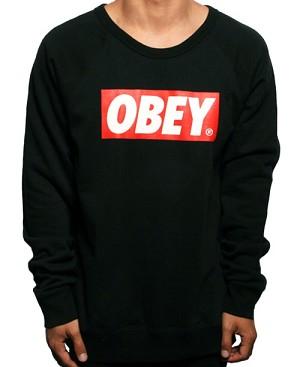 Obey - The Box Crewneck Sweater (Black) :: The Attic Online Shop ($50-100) - Svpply