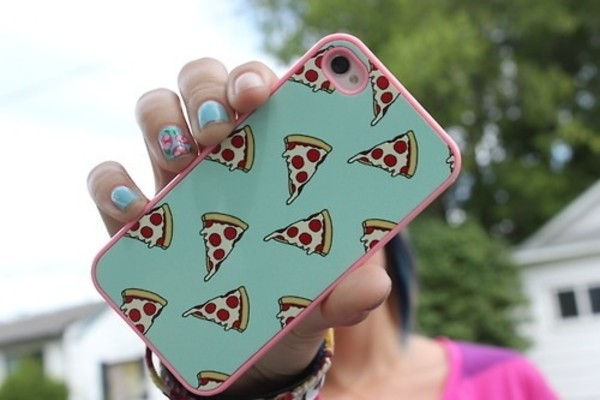 jewels iphone case iphone 4 case pizza iphone 4 case iphone iphone 4 case food phone phone cover phone cover t?rkis pink