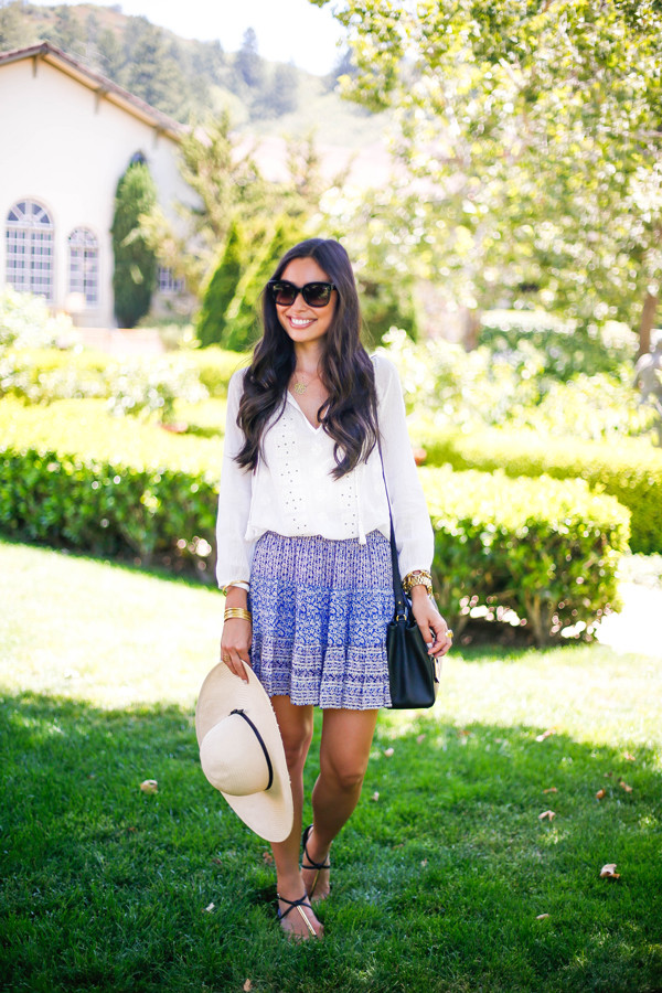 with love from kat blouse skirt shoes jewels bag sunglasses