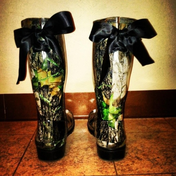 shoes camouflage wellies bows boots country