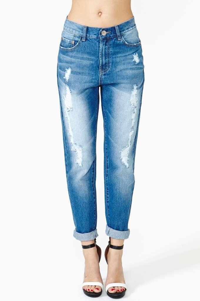 Ex Boyfriend Jeans - Blue Sky at Nasty Gal