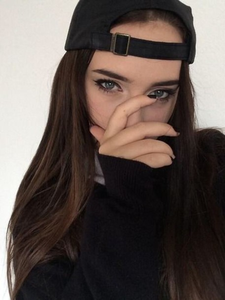 hat cap tumbr black cap