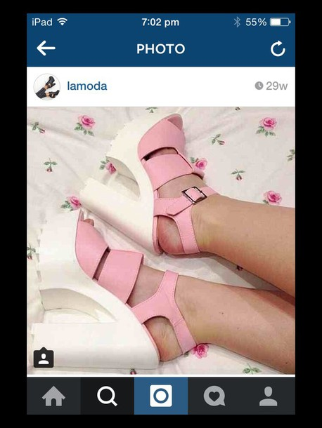 shoes lamoda pink shoes with white heels