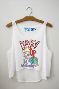 Baby you light up my world like nobody else Fresh-Tops Crop Top - Fresh-tops.com