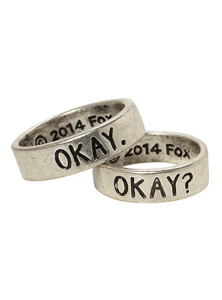 The Fault In Our Stars Okay? Okay His & Hers Ring Set | Hot Topic
