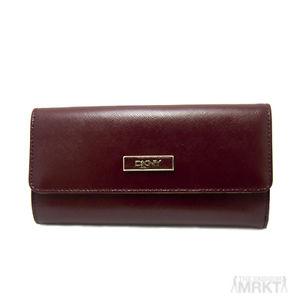 Dkny Donna Karan Luxury Saffiano Leather Medium Flap Carryall Wallet | eBay