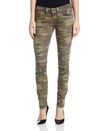 Amazon.com: Seven7 Women's Camo Print Skinny Jean, Camo/Olive, 14: Clothing