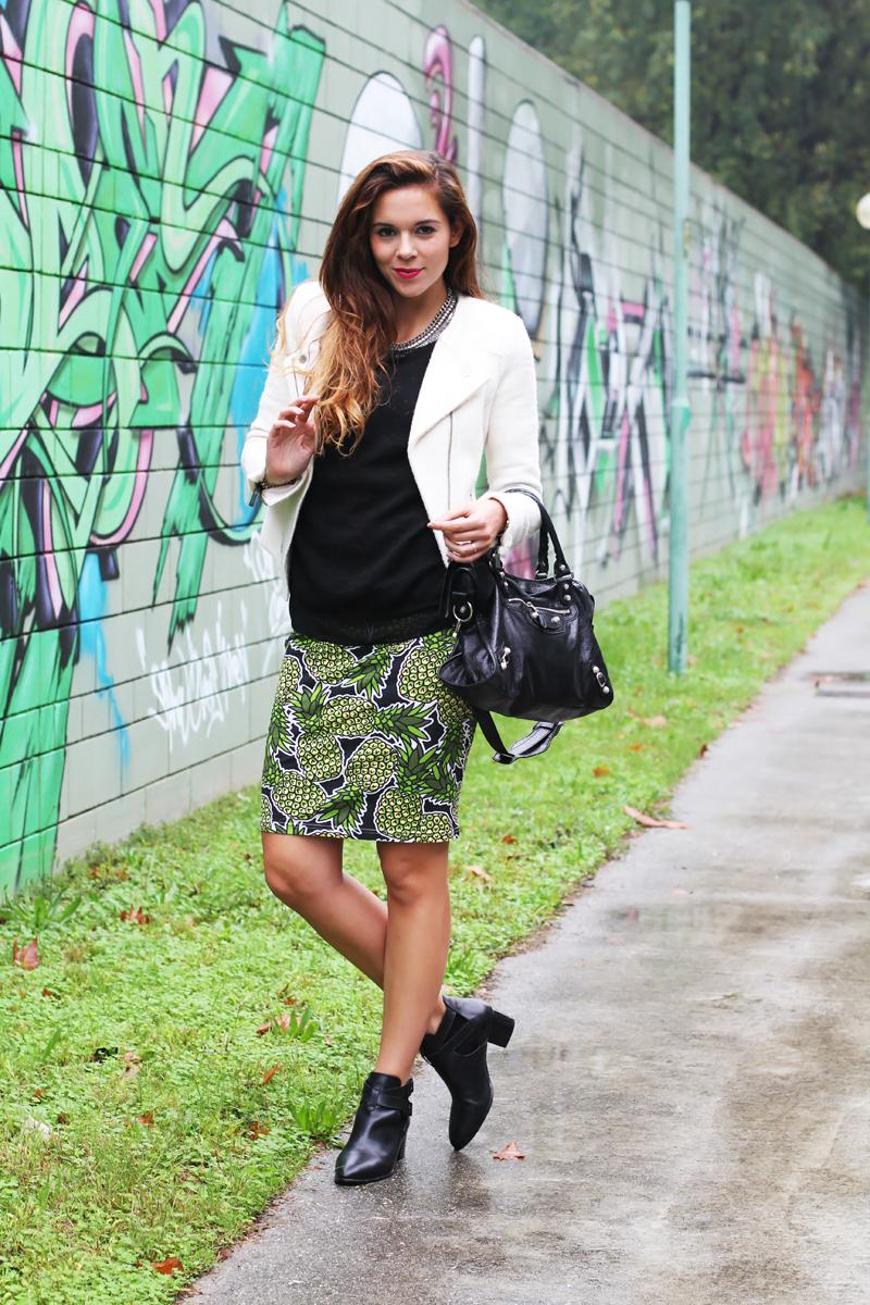 H&M ed una gonna con gli ananas