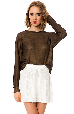 O'Neill Skirt The Off the Hook Crochet in Pearl -  Karmaloop.com