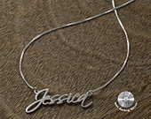 Infinity name necklace  1.50 personalized by KHandmadeCreations