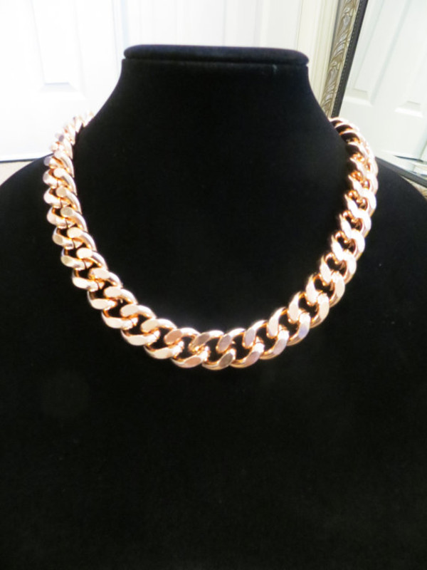 jewels etsy rose gold rose gold jewelry jewelry statement necklace statement jewelry chunky necklace chain jewelry
