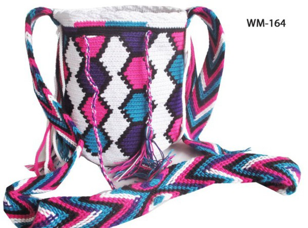 bag pink white shoulder bag mochila boho dress hyppie handbag