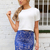 Blue Prints Skirt - Blue Lace Lined Skirt | UsTrendy