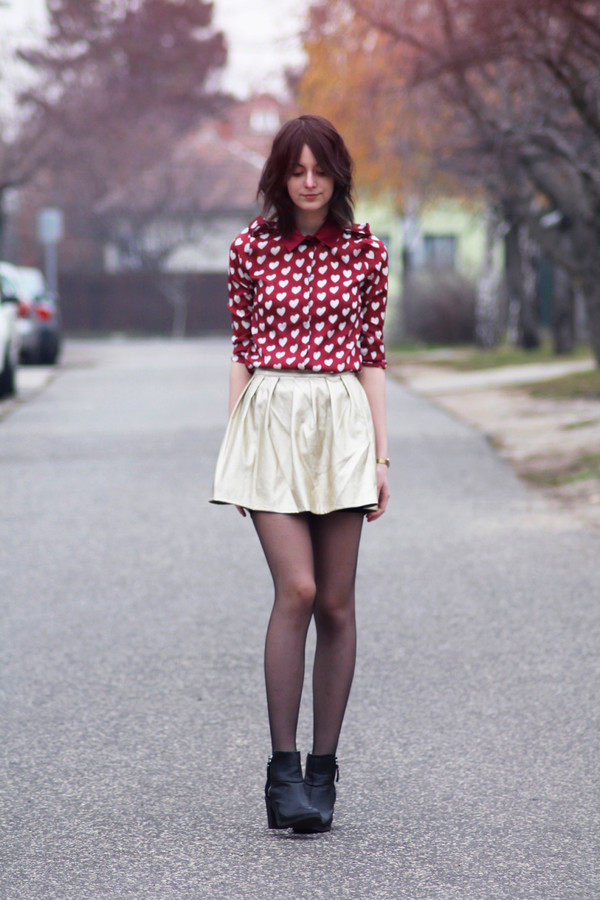 mes memos shirt skirt shoes