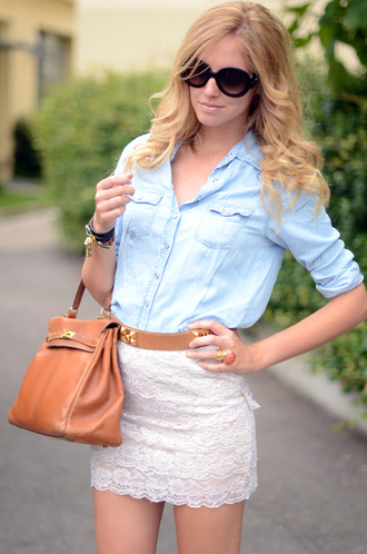 chiara the blonde salad lace skirt clothes