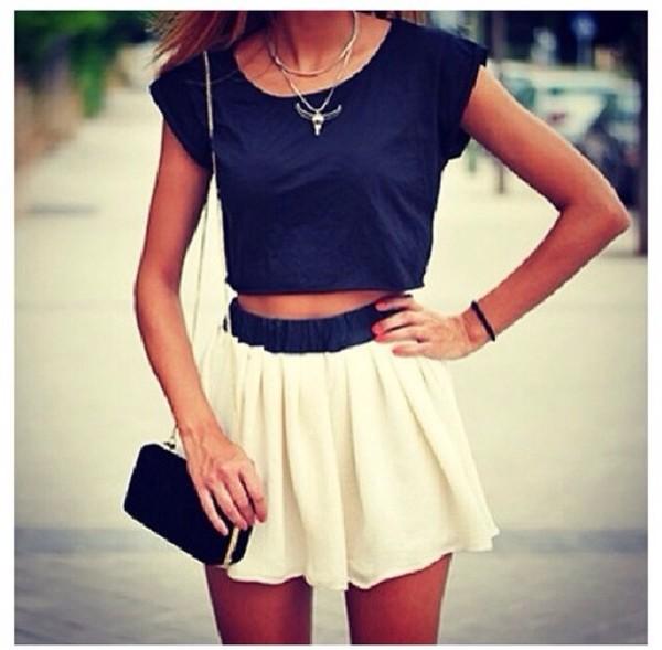 t-shirt skirt bag