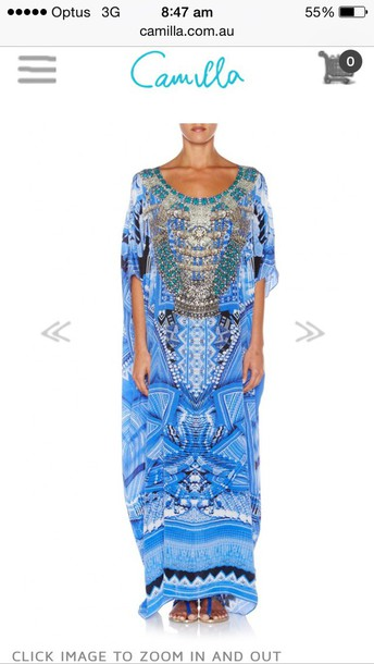 dress blue camilla