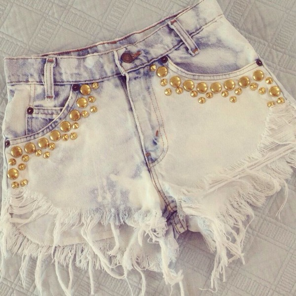 shorts denim ombre shorts bleached shorts