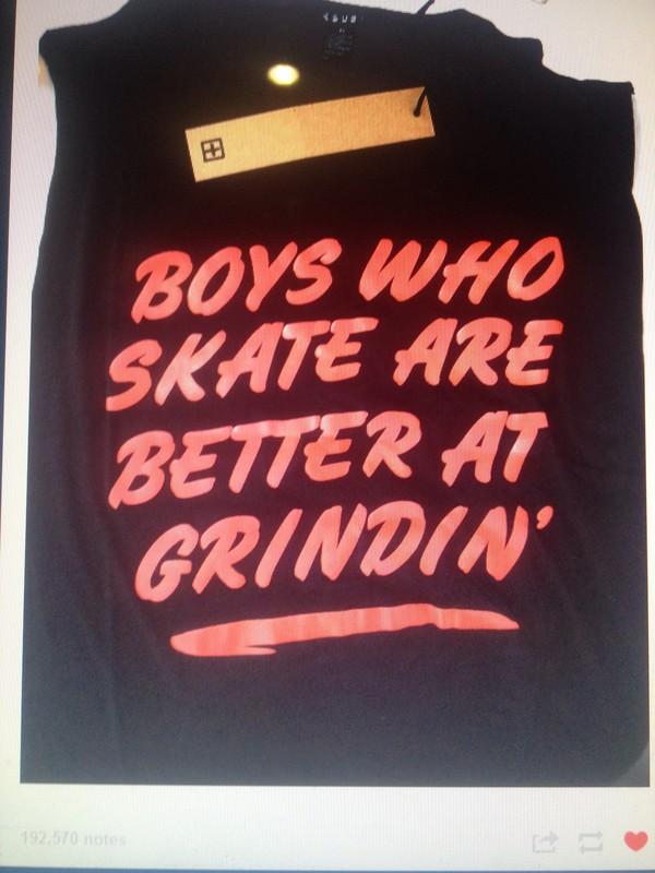 shirt skateboard skater grind black red