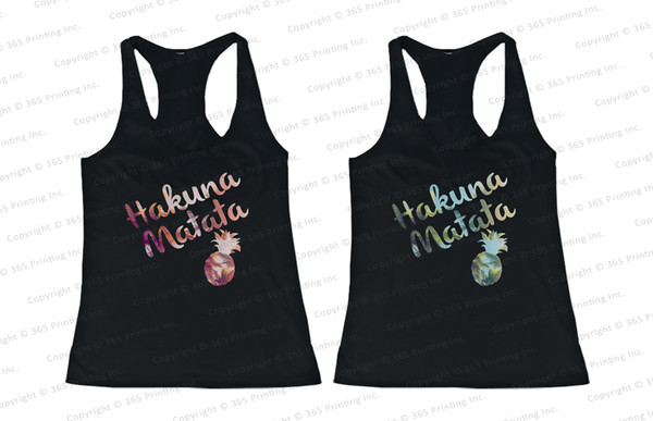 bff bff tank tops matching tank tops for bff hakuna matata hakuna matata top hakuna matata tank tops pineapple print pineapple shirt pineapple tank tops beachwear summer tank tops beach tank tops bff matching tanks beachwear summer tanks