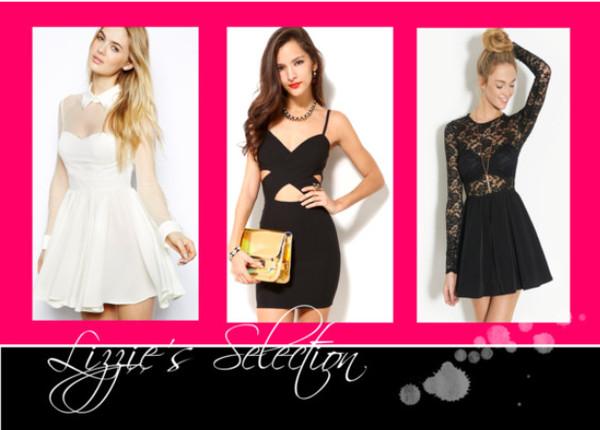 dress dress cut-out dress little black dress skater dress glamour